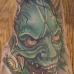 Hannya mask japanese tattoo