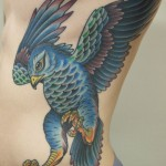 Falcon color tattoo