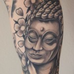 buddha tattoo, black & grey tattoo, matzon, zombie tattoo