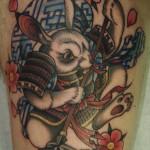 samurai rabbit japanese tattoo
