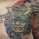 Samurai chest japanese tattoo