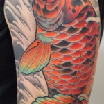 Koi half sleeve japanese tattoo