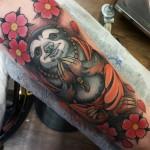 sloth, sloth tattoo, buddha tattoo, sloth buddha, Matzon, Zombie Tattoo, Zombie Tattoo Hesinki,