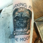 griffon tattoo, dog tattoo, dog portrait, koirapotretti, griffon tatuointi, color tattoo, neo traditional tattoo, zombie tattoo, zombie tattoo helsinki, matzon
