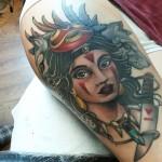 prinsessa Mononoke, princess Mononoke, studio ghibli, mononoke tattoo, neo traditional tattoo, prinsessa mononoke tatuointi, princess mononoke tattoo, color tattoo, studio ghibli tattoo, matzon, zombie tattoo, zombie tattoo helsinki, zombie tattoo matzon, matzon tattoo