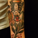 badger color tattoo by Matzon, Zombie Tattoo