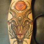 all seeing eye color tattoo by matzon zombie tattoo