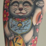 Maneki neko japanese tattoo