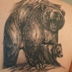 Karhu tatuointi bear tattoo