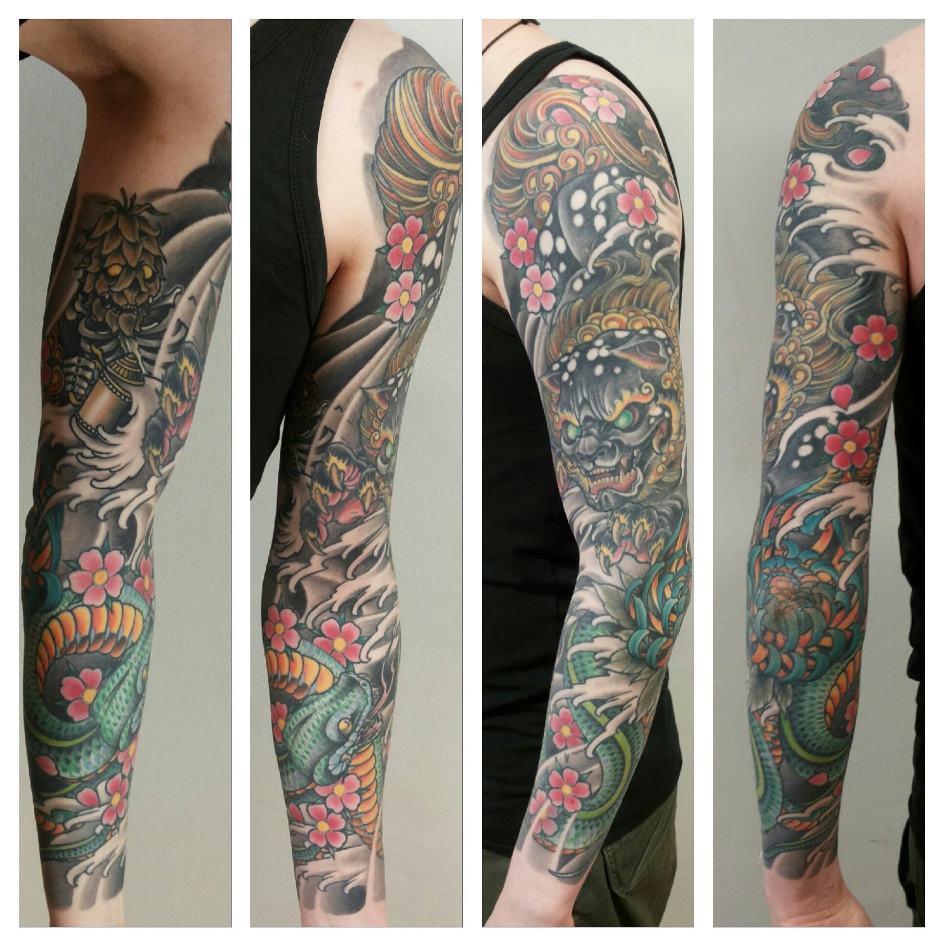 Matzon oriental zombie tattoo for Oriental tattoo