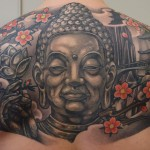 buddha backpiece japanese tattoo