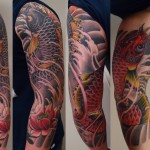 koi japanese sleeve tattoo