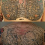 cover up chestpiece tattoo japanese foo dog
