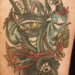 ninja cat tattoo