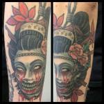 japanese tattoo, geisha tattoo, oriental tattoo, geisha tatuointi, zombie tattoo, zombie tattoo helsinki, matzon,