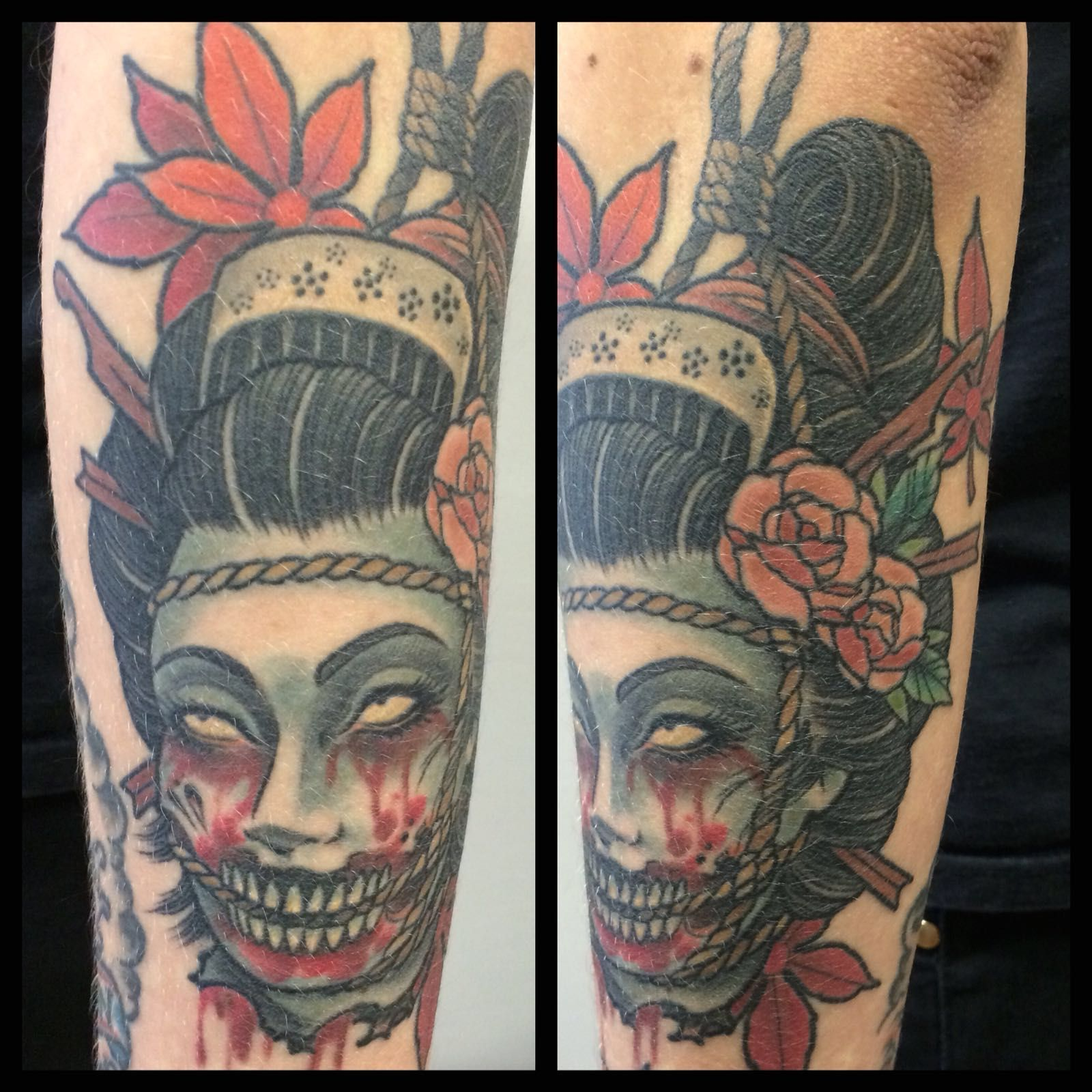 Matzon oriental zombie tattoo for Oriental tattoo