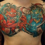 chestpiece oni japanese tattoo