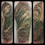 oriental japanese tattoo lohikäärme tatuointi