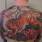 colour tattoo japanese oriental tiger tattoo