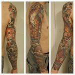 tiikeritatuointi, japanese tattoo, oriental tattoo, japanese sleeve, tiger sleeve, oriental sleeve, sleeve tattoo, tiger tattoo, zombie tattoo, zombie tattoo helsniki, matzon,