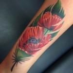 tattoo, tattoos, tatuointi, tatuointi helsinki, realistinen tatuointi, realistinen tatuointi helsinki, realistic tattoo, photoreaistic, flower tattoo, flowertattoo, color tattoo, colour tattoo, poppy, poppy tattoo, zombie tattoo, zombie tattoo helsinki, zombie tattoo salla, salla tattoo art
