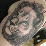 leijona, leijonatatuointi, dotwork, dotwork tattoo, pistetatuointi, salla zombie tattoo, zombie tattoo helsinki, zombie tattoo
