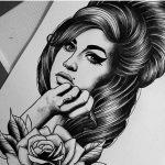 Amy Winehouse, amy winehouse drawing, drawing, tattoo design, salla zombie tattoo, zombie tattoo helsinki,