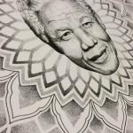 Mandala, Mandela, mandelamandala, nelson mandela, nelsonmandala, drawing, mandala drawing, Sallzombie tattoo, zombie tattoo helsinki
