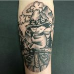 nuuskamuikkunen, nuuskamuikkunen tatuointi, muumitatuointi, moomin, moomin tattoo, dotwork tattoo, dotwork, pistetatuointi, salla zombie tattoo, zombie tattoo helsinki, zombie tattoo, helsinki tatuointi, helsinki tattoo