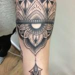 Mandala tattoo black & grey mandala tatuointi