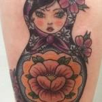 maatuska tatuointi neo traditional matryoshka tattoo