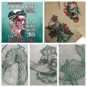 Helsinki Ink, Helsinki Ink 2018, kaapelitehdas, tatuointimessut, tatuointimessut helsinki 2018, helsinki, helsinki tattoo convention, helsingin tatuointimessut, tatuointiaika, tatuointiaikoja, zombie tattoo, zombie tattoo helsinki, zombie tattoo kerava, matzon, tattoomatzon, custom tattoo helsinki, custom tattoo kerava, japanese tattoo helsinki, japanese tattoo kerava, japanilainen tatuointi, shinga, shinga tattoo