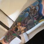 Zombie Tattoo, zombie tattoo kerava, zombie tattoo helsinki, zombie tattoo finland, zombie tattoo suomi, zombie tattoo matzon, tatuointi matzon, zombiematzon, tattoomatzon, color tattoo, colour tattoo, väritatuointi, rotta tatuointi, rottatatuointi, kallo, rotta ja kallo, kallotatuointi,
