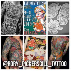 Helsinki Ink, Helsinki tatuointi, tatuointimessut, helsingin tatuointimessut, tatuointimessut helsinki, helsinki tattoo convention, helsinki ink 2019, rory pickersgill, custom tatuointi, tatuointiaikoja, tatuointimalleja, tatuointiaika,walk in tatuointi,