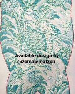 japanilainen tatuointi, japanilainen selkätatuointi, japanese tattoo, japanese tattoo in finland, japanese backpiece, traditional japanese tattoo, dragon koi, helsinki ink, tatuointi kerava, tattoomatzon, zombietattoo